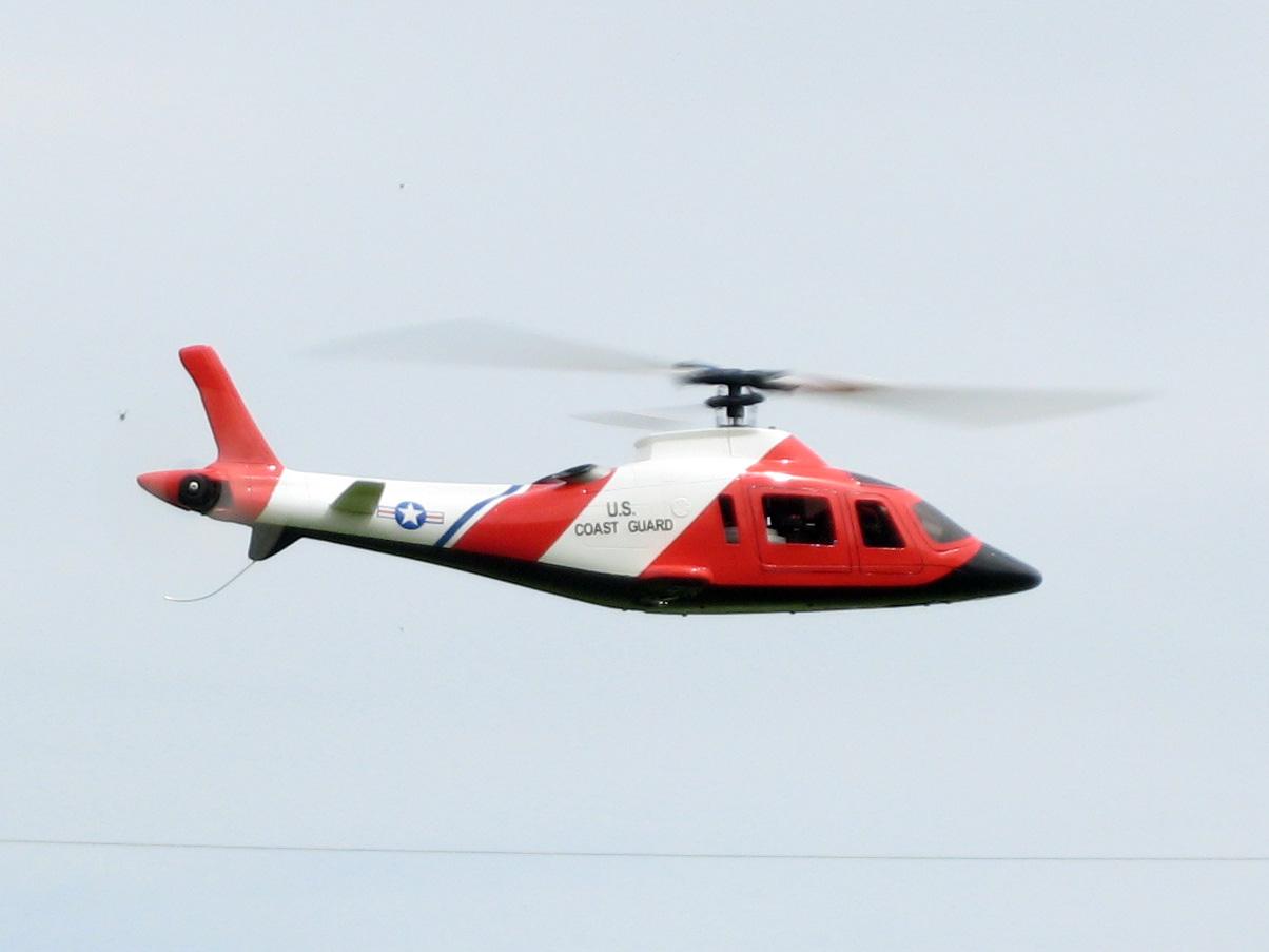 Agusta A109, der Einbau